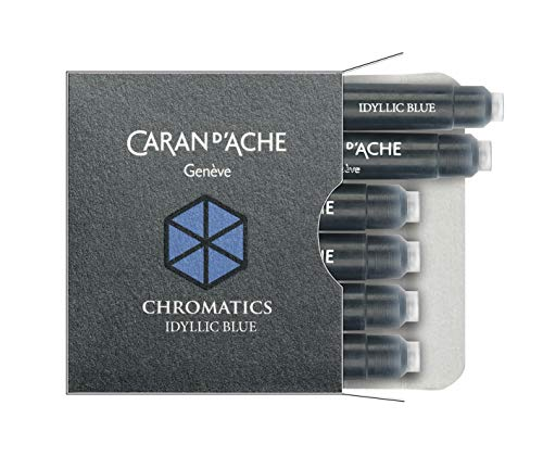 Caran d'Ache Tintenpatronen Chromatics 6 Stück Idyllic Blue