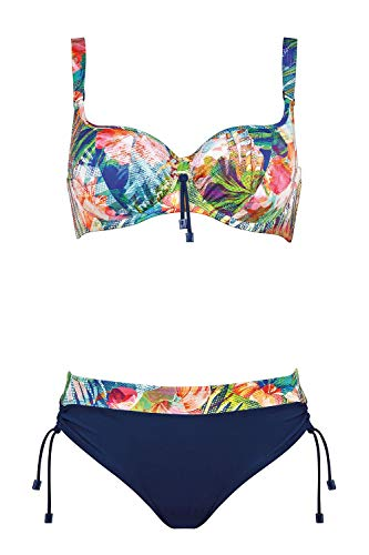 Lidea Bikini Badeanzug fur Frauen Mod. 7544 dess. 775 Col. 932 Pastel-Mix (DE 40C, 932 Pastel-Mix)