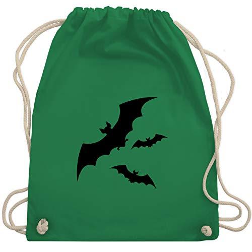 Shirtracer Halloween - Fledermäuse - Unisize - Grün - fledermaus tasche - WM110 - Turnbeutel und Stoffbeutel aus Baumwolle