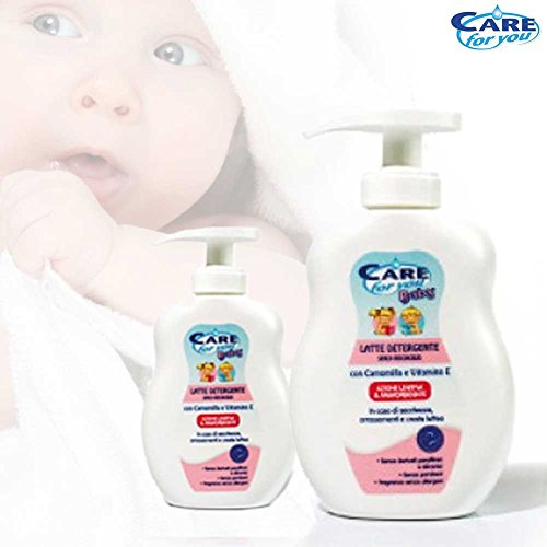 Detergente per Bambini Care For You 250 ml Promo Pack 2 Pezzi Offerta Promozionale 2 Flaconi con Camomilla Azione Lenitiva e Ammorbidente Neonati