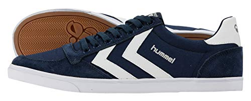 Hummel Unisex-Erwachsene HUMMEL SLIMMER STADIL LOW, Blau Dress Blue White Kh, 39 EU