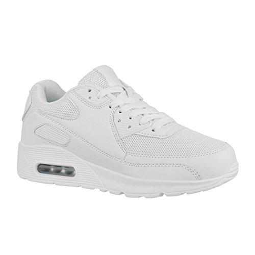 Elara Zapatillas de Deporte Unisex Zapatos para Correr Chunkyrayan H001-Z001 White-38