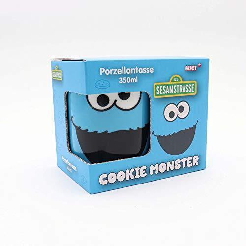 Sesamstrasse Krümelmonster, Cookie Monster 350 ml Tasse, Blau