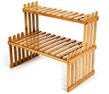 Lawei 2 Tier Table Top Bamboo Pl...