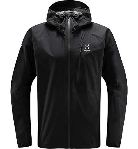 Haglöfs Regenjacke Herren Regenjacke L.I.M Jacket Wasserdicht, Winddicht, Atmungsaktiv Small True Black XL XL