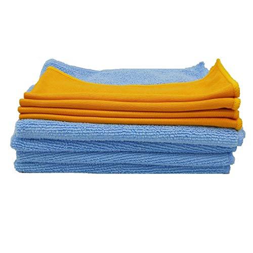 Kaptin 8 Pack Microvezel Glas Reiniging en Polijsten Combo Reinigingsdoekjes pack voor Keuken Auto Ramen & Spiegels Reinigingsdoek
