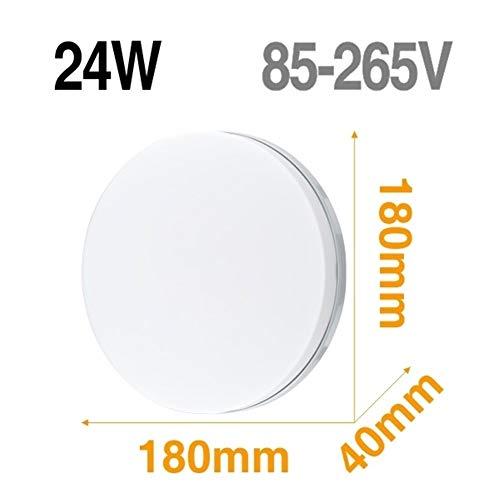 Lámpara de techo LED Panel de luz LED 48W 36W 24W 18W 13W 9W 6W abajo luz Montado en Superficie moderna lámpara de iluminación for el hogar Decoración (Body Color : Model B 24W)