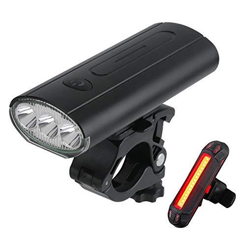 Lights tráfico de la Bicicleta de la Bici Luces USB Recargable Trasera de la Linterna LED Set Anverso Ciclismo Accesorios de Seguridad Adapta a Todas Las Bicicletas