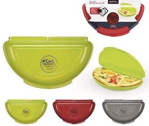 Lot de 4 Cuits Omelette Spécial Micro-ondes Original et Pratique ! (Assorties)