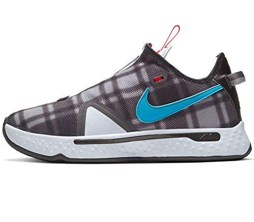 Nike Pg 4 Grande Kid Scarpe Da Pallacanestro Cd5079-002, Grigio (Calcio Grigio/Laser Blue-lt Grigio Fumo), 39 EU