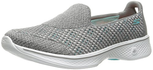 Skechers Performance Women's Go Walk 4 Kindle Slip-On Walking Shoe,Gray,7.5 M US