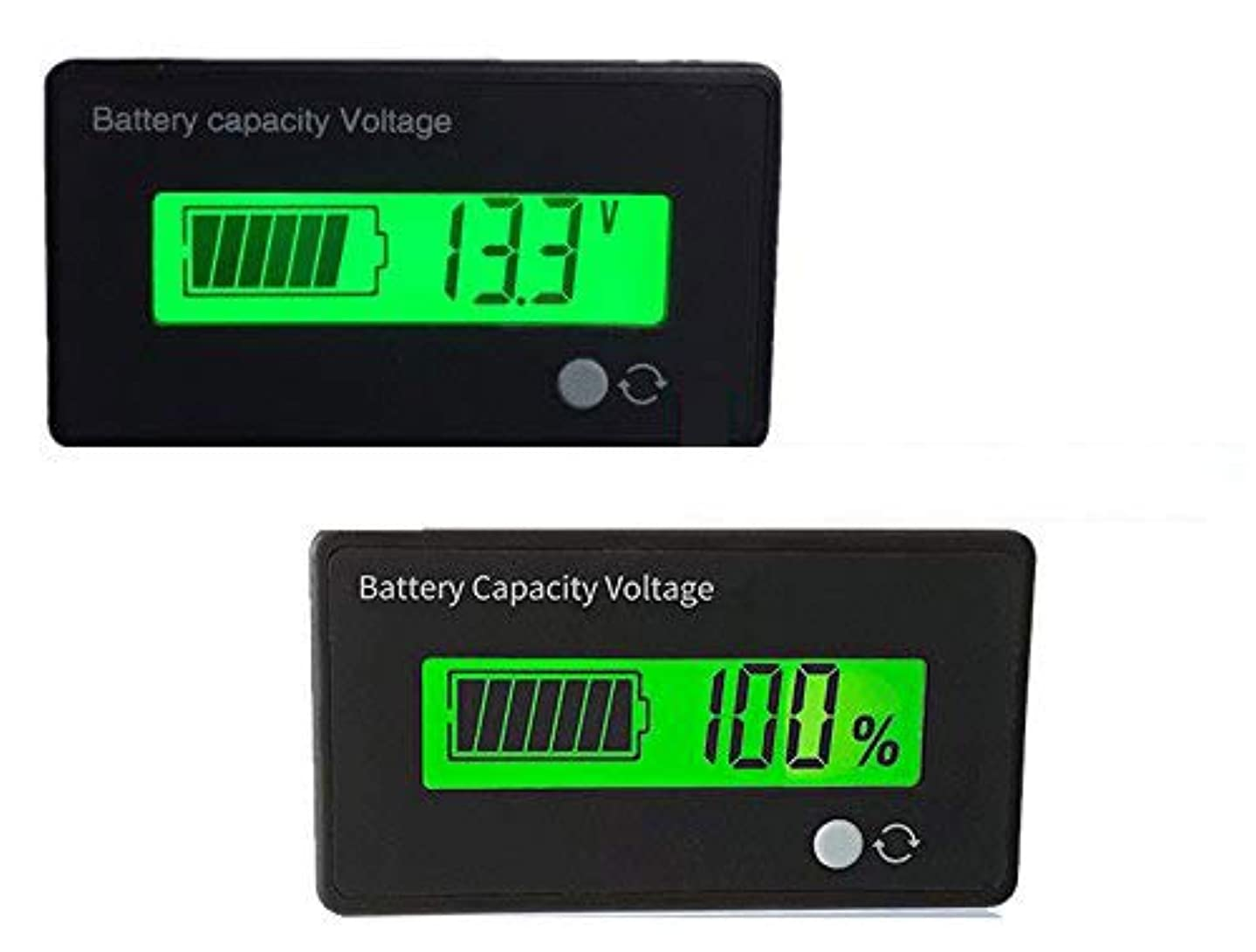 ABT Power Battery Fuel Gauge Indicator Meter for Electric Bike,Fork Lift,ATV,Quads,Golf Cart (10S 42V Lithium Battery Fuel Gauge)