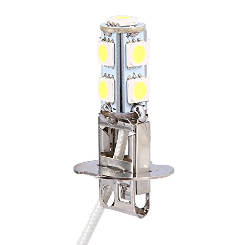 2pc 9 SMD Lámpara de Luz de Niebla Bombillas LED H3 5050 Blanco LED Xenon Linterna de Faros Auto Coche Lámpara de Luz de Niebla 6500K Super Brillante