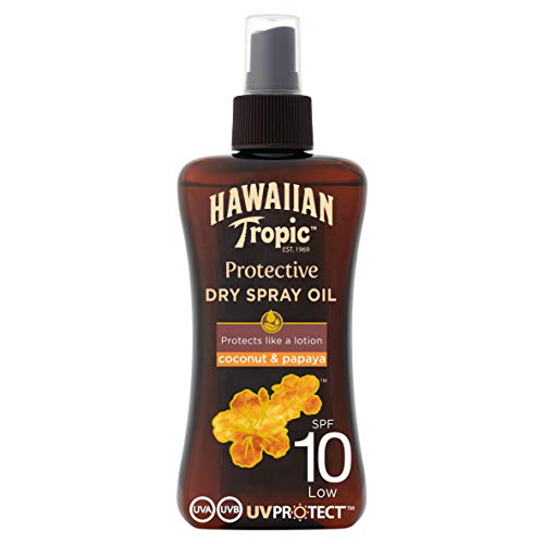 Hawaiian Tropic Protective Dry Spray Oil LSF 10, 200ml, 1er Pack (1 x 200 ml)