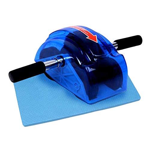 Hellery AB Roller Core Workout AB Machine Training Abs Wheel Equipo de Ejercicio Antideslizante - Cuatro Ruedas