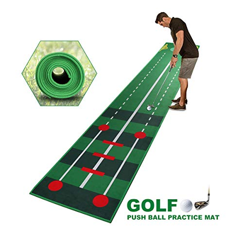 Qdreclod Puttingmatte Golf Innen 0.5 * 3M, Professionelle Heimgolf Putting Übungsmatte, Golf Simulation Gras Trainingsmatte für drinnen, Innenhof im Freien