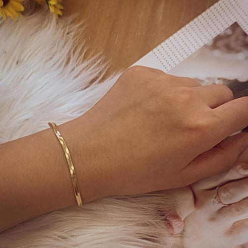 Punk Multistyle Gold Color Metal Snake Link Chains Bracelets for Women Fashion Rope Figaro Bracelets Hip Hop Jewelry Gift