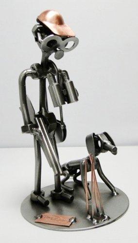 Hinz & Kunst Chasseur et son chien en acier.