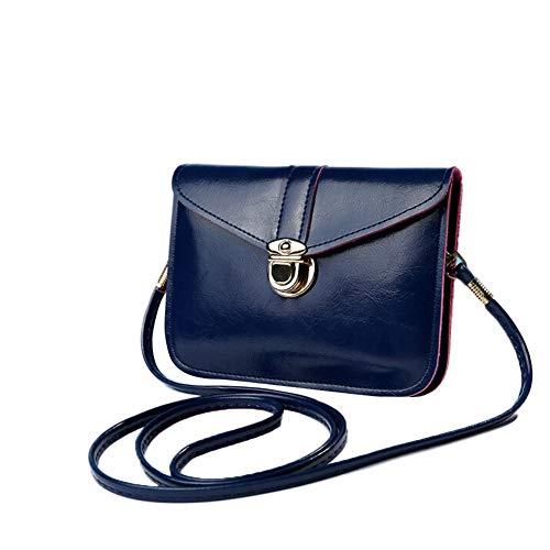 SoonerQuicker Mini Mode Null Geldbörse Tasche Leder Handtasche Einzelner Schulter Messenger Handytasche