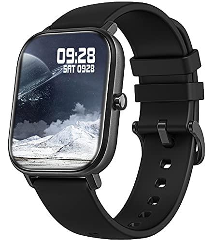 findtime Smartwatch Herren Sportuhren, Fitness Uhr Schrittzähler Pulsuhr Laufuhr Armband Tracker Fitnessuhr Android IOS Digital Armbanduhr Damen Stoppuhr Smart Watches for MenSchwarz