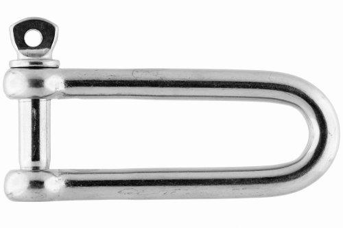 Grillete recto-largo, 12mm, acero inoxidable AISI 316