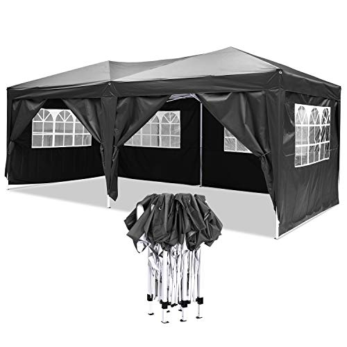 YUEBO 3x6m Gazebo Marquee Tent, Waterproof Pop Up Gazebo with Sides, Outdoor Awning Canopy Garden Gazeb Tent- Carrying Bag Included