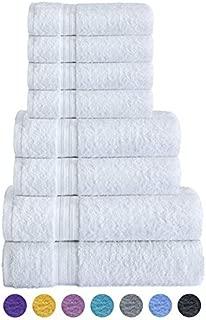 Divine Textiles - Juego de Toallas (8 Piezas, 100% algodón