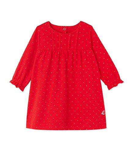 Petit Bateau Dukano Robe, Rouge (Froufrou/Argent), FR (Taille Fabricant: 6 Mois) Bébé Fille 0-24m