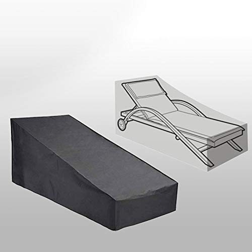 SDSA Garden Furniture Cover, Deck Chair Cover Folding Deck Chair Cover, Garden Outdoor Furniture Rain Storage Protection Cover.
