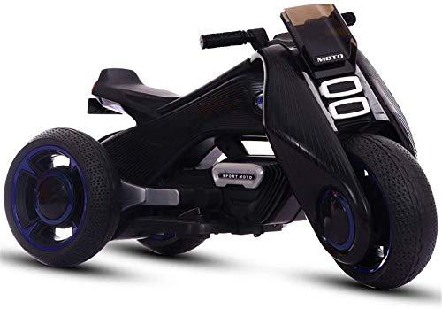 FEE-ZC Kid Safety Kids Ride on Motorcycle, 6V Batería de 3 Ruedas...