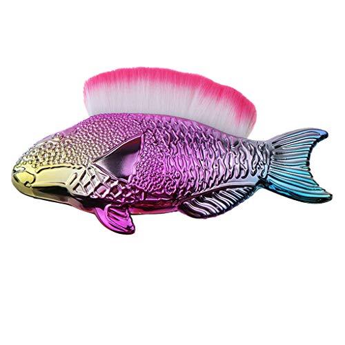 Longra Make-up Pinsel im Fisch Look Puder Blush Make-up Kosmetik Pinsel Nägel Pinsel Werkzeug
