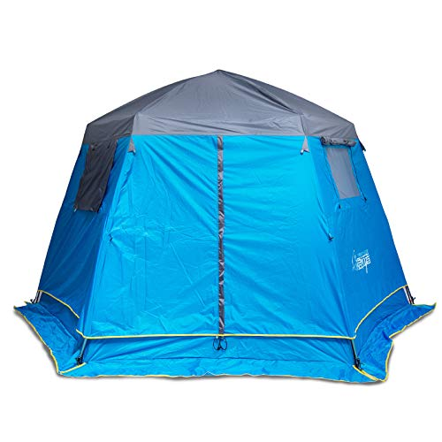 NLZQ Hexagonal Multi-person Double Deck Big Tent Camping Automatic Tent Outdoor Leisure Tent