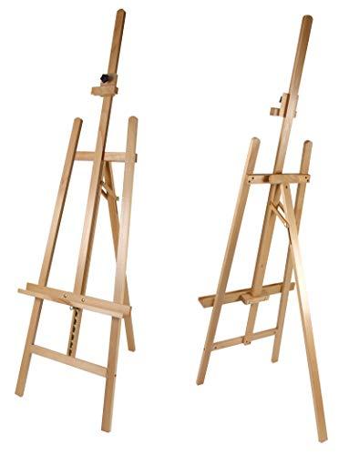 Staffelei COMO aus Buchenholz FSC®, Keilrahmen bis 130cm, Höhe bis 230 cm, Qualität vom Fachhändler