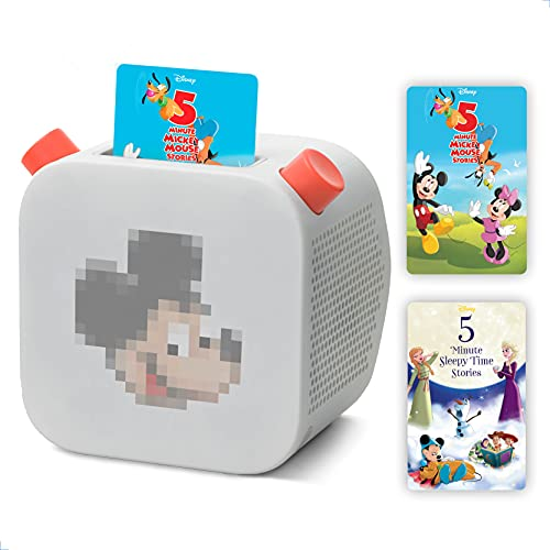 Yoto Player - Kids Audio & Music Player With 5-Minute DISNEY Mickey Mouse Stories & 5 Minute DISNEY Sleepy Time Stories Children's Storytelling Speaker Toy Plays Audiobook Cards of Bestselling Stories