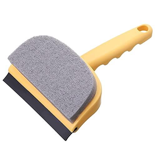 2 in 1 Dubbelzijdige Window Cleaning Tool Squeegee Spons Scrubber Schraper Cleaner Borstel voor Douche Deur Badkamer Glas Window Cleaning Tool Squeegee