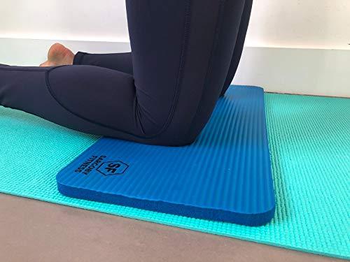 Sargoby Fitness Rodillera de Yoga de 15mm (0.6'') de Grosor | Cojín de Pilates para Dolor y Alivio de Rodillas, Codos y Muñecas | Esterilla de Entrenamiento | Pequeño Tapete de Rodilla de Yoga