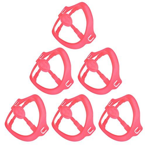 HEALLILY 6Pcs Support de Couverture de Bouche 3D Protection de Rouge à Lèvres Support de Cadre de Support Interne pour Le Nez Bouche Augmenter L'espace Respiratoire