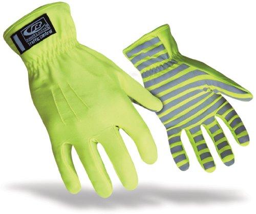 Ringers TrafficR-307 Reflecterende Handschoenen voor Verkeerscontrole, Hoge Zichtbaarheid, Groen Medium Groen