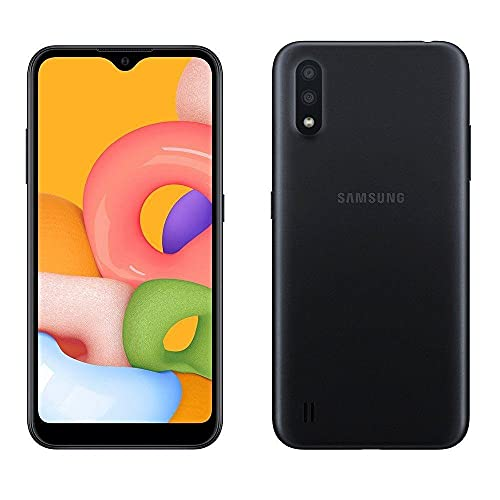 Celular Samsung Galaxy A01 Preto 32gb Tela 5.7 2gb Ram Camera Dupla 13mp 2mp