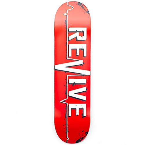 ReVive Skateboard-Brett / Deck, Rot, rot, 7.75