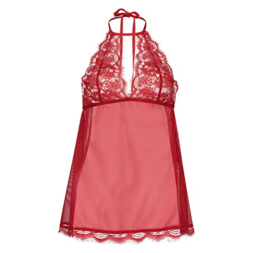 Hunkemöller Damen Babydoll Lace M, Tango Red