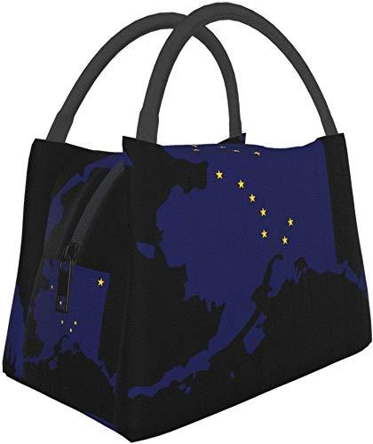 Bolsa de almuerzo con aislamiento reutilizable, bolsa de almuerzo duradera de Alaska, bolsa de...