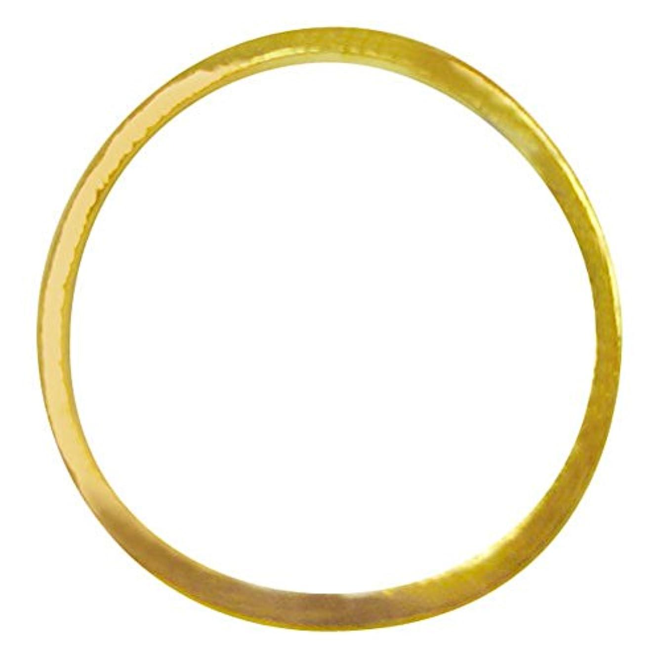 タック主要な複雑ジェルネイル  サンシャインベビー シンプル ラウンドフレームL(ゴールド) 10P