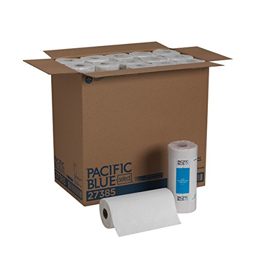 Pacific Blue Select 2-Ply Perforated Paper Towel Rolls by Georgia-Pacific Pro, 85 Sheets Per Roll, 30 Rolls Per Case, White - 27385