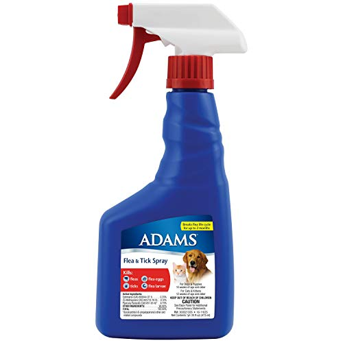 Adams Flea and Tick Spray for Cats and Dogs, 16 Oz