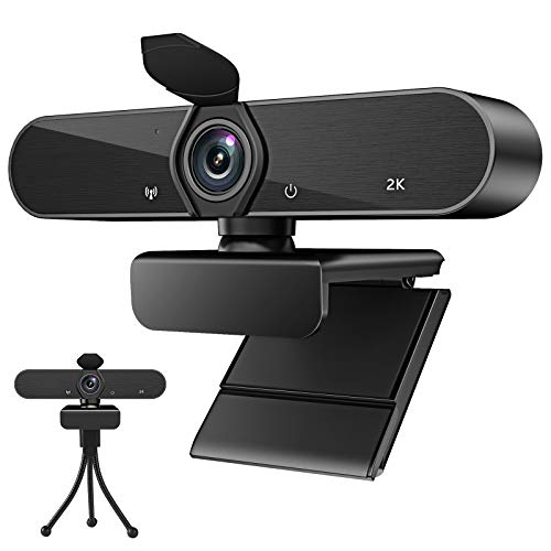 Webcam with Microphone,Full HD 1080P USB Webcam Autofocus 30fps Plug and Play 140 Degree Wide Angle with Privacy Cover and Tripod for Desktop Laptop Computer Compatible with Live Streaming Call Zoom