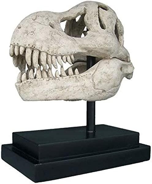 Design Toscano T Rex Dinosaur Skull Fossil Statue On Museum Mount