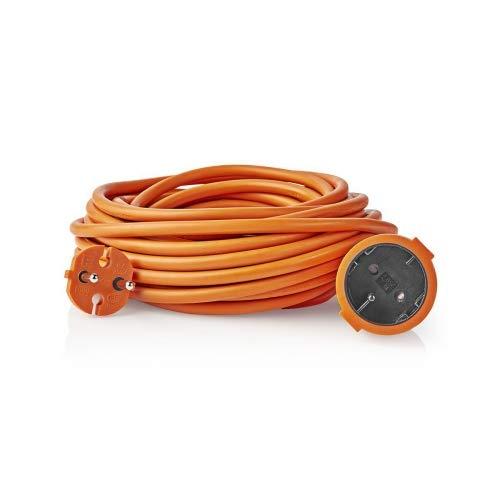 FESA Alargador Enchufe para Exterior de 25 Metros Color Naranja
