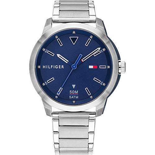 Tommy Hilfiger Herren Analog Quarz Uhr mit Edelstahl Armband 1791620