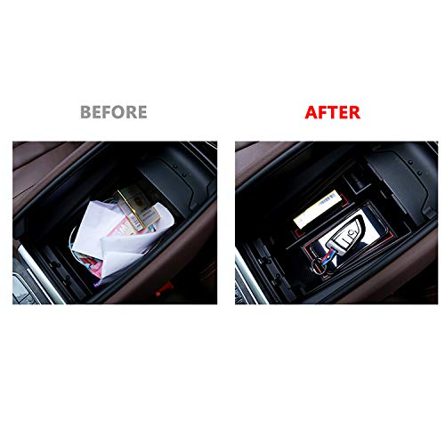 LFOTPP Center Console Organizer for 2019 2020 2021+ X5 G05 X6 G06 X7 G07 Armrest Center Console Organizer Tray Accessories with Coin and Sunglasses Holder Secondary Insert Storage Box for X5 G05